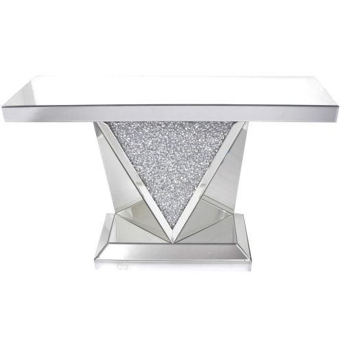 Crushed Diamond Mirrored Coffee Table: Tables